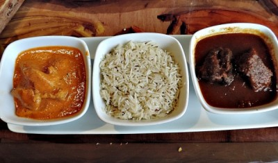 Butter Chicken and Beef Short Ribs with Basmati Rice