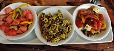 Watermelon, Cucumber, and Fennel,   Bhel Puri, and  Kachumbari