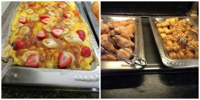 breakfast lasagna Pooh's toast waffles