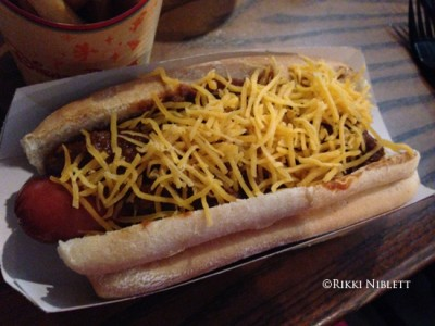 Backlot Express Chili Dog