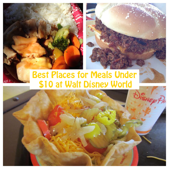 Best Places for Meals Under $10 at Walt Disney World