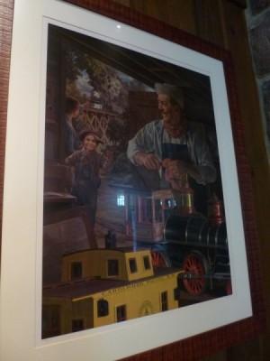Carolwood Pacific Room Train wilderness lodge 80