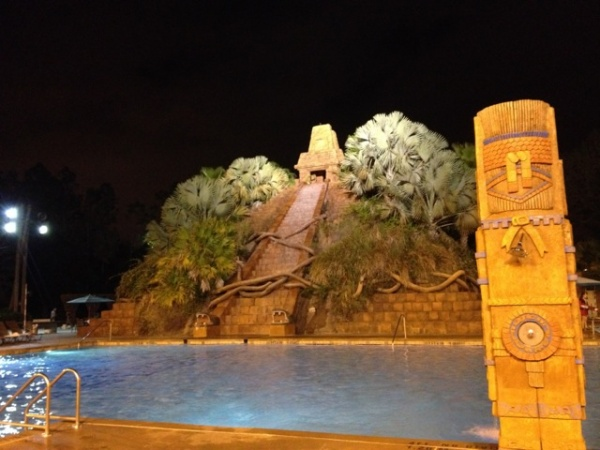 Coronado Springs Pool at Night