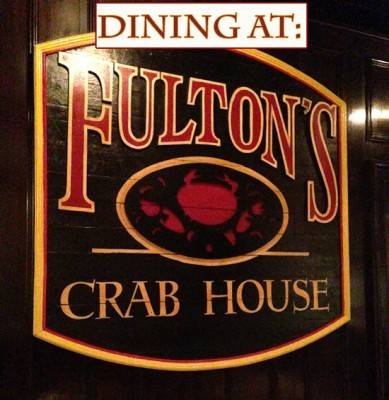 Dining at Fulton's Crab House