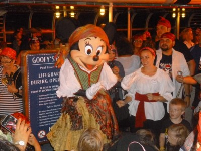 Disney Magic Cruise Ship reimagined pirates in the caribbean party