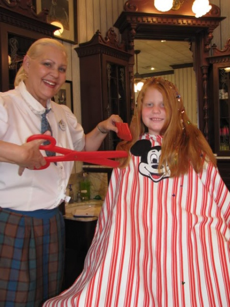 the harmony barber shop at the magic kingdom is a cut