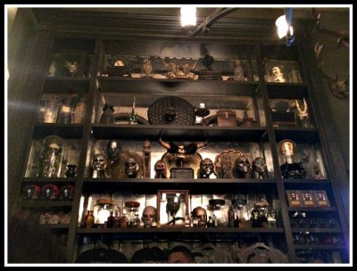 Masks and skulls are a specialty at Borgin and Burkes