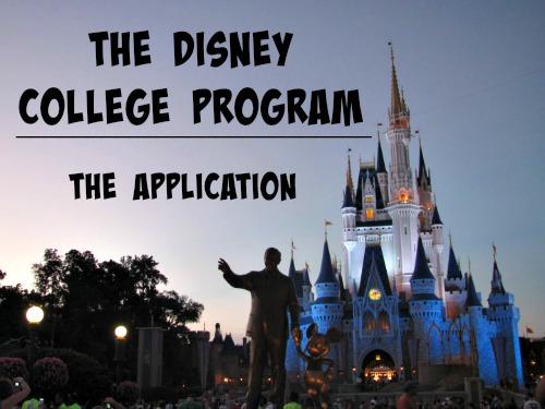 The Disney College Program: The Application