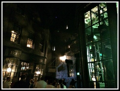 Entrance to Borgin and Burkes, inside the dark and mysterious Knockturn Alley