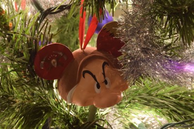 Grumpy Mickey Ears Ornament