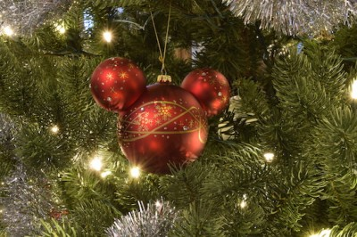 Red Mickey Ornament