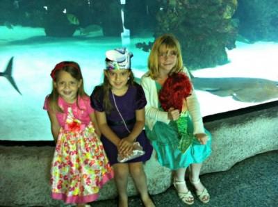 Visiting Ariel's friends
