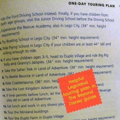 Beyond Disney Legoland plan