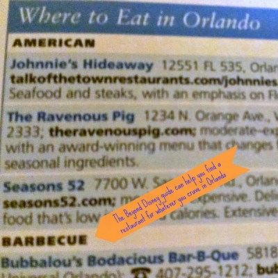 Beyond Disney Where to Eat