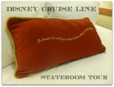 Disney Cruise Line inside standard stateroom tour magic 15