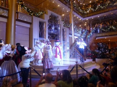 Disney Cruise Line very merrytime cruise holiday christmas 7