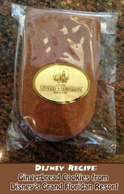 Disney Recipe - Gingerbread Cookies from Disney's Grand Floridian Resort