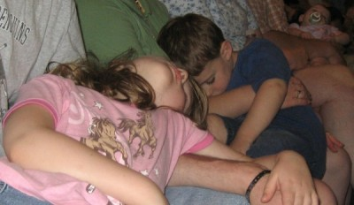 The kids just couldn't stay awake!