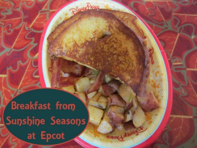 Breakfast from Sunshine Seasons at Epcot