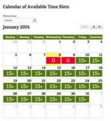 Garden Grocer Delivery Calendar....Pick your date & time