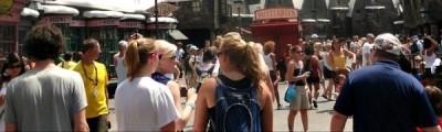 Heavy crowds of Hogsmeade