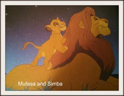 Simba & Mufasa - with text