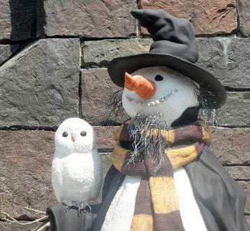 Snowman in Hogsmeade