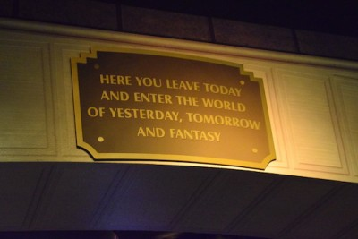 One Man's Dream  - Park Entry Sign