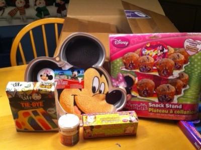 Cupcake Tower, Mickey Cake Pan, Cake Mix & Sprinkles
