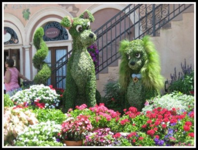 Some of my favorite Flower & Garden Festival character topiaries over the years