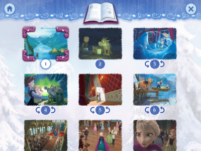 Chapters for Frozen Storybook Deluxe