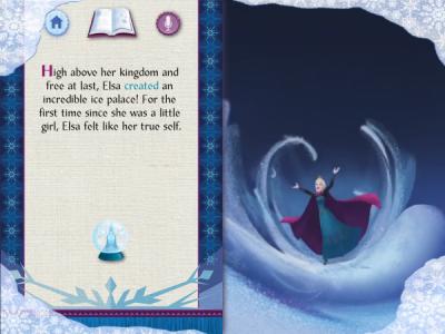 Elsa's Story in Frozen Storybook Deluxe