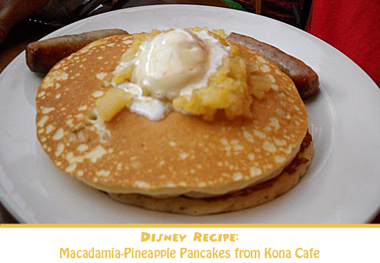 Macadamia-Pineaple Pancakes from Kona Cafe