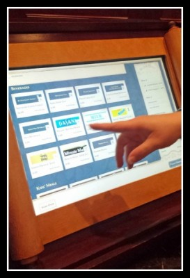 Touch screen ordering is convenient and simple