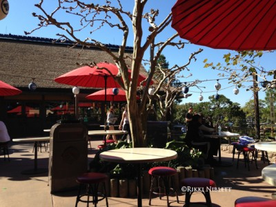 Outside dining at Katsura Grill