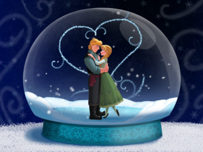 Snowglobe for Frozen Storybook Deluxe