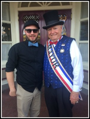 My very handsome fiancé hanging out with the Mayor of Main Street, U.S.A.