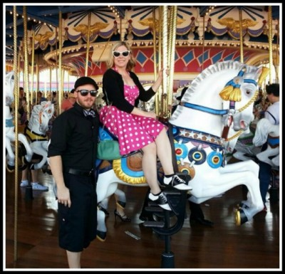 Riding Prince Charming's Regal Carousel at last year's Spring Dapper Day