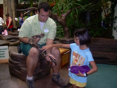 Conservation Station Snake Encounter