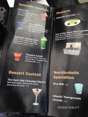 Drink and Dessert Menu