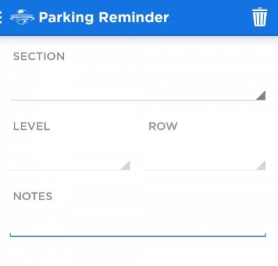 Universal App Parking reminder