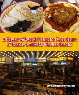 A Review of the World Premiere Food Court at Disney's All-Star Movies Resort