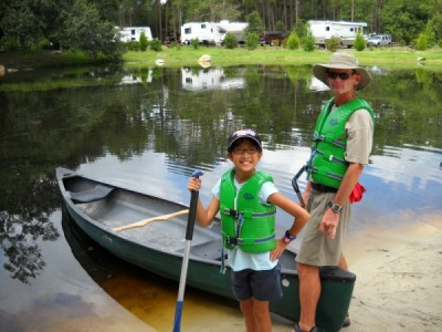 Canoe at Fort Wilderness