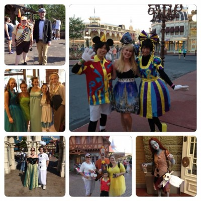 Costumes during 24h at Magic Kingdom