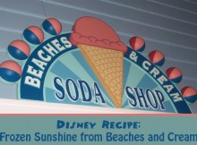 Disney Recipe for Frozen Sunshine from Beaches and Cream