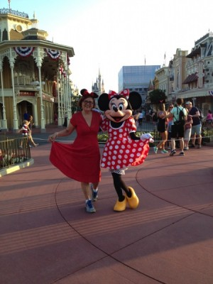 Me as Minnie with Minnie