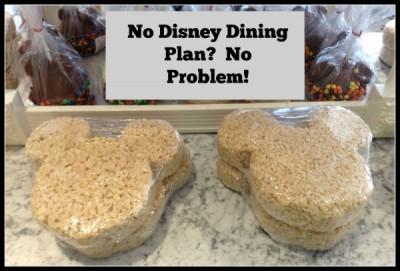 No DIsney Dining Plan