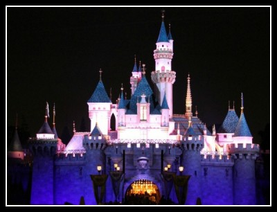 Sleeping Beauty Castle night