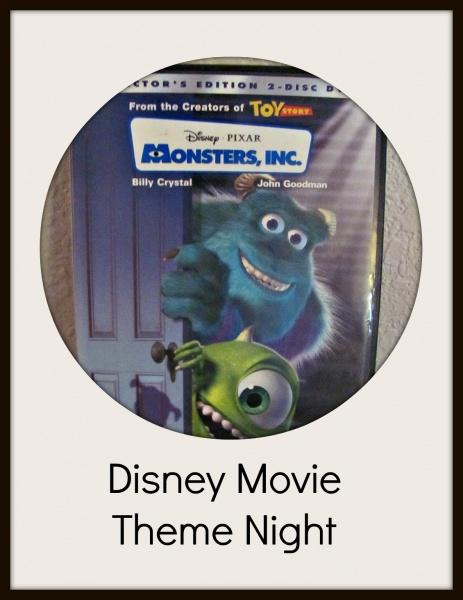 Disney Movie Theme Night Monsters Inc
