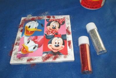 DIY Glitter Coaster